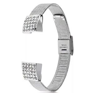 Accessories - Fitbit Alta Stainless Crystal Band Silver